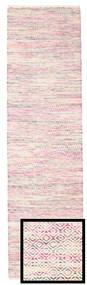 Hugo - Multi Rosa Tappeto 80X300 Moderno Tessuto A Mano Alfombra Pasillo Rosa Chiaro/Beige ( India)