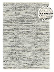 Hugo - Nero/Grigio Tappeto 140X200 Moderno Tessuto A Mano Grigio Chiaro/Beige Scuro ( India)