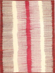 Kilim Moderni Tappeto 212X279 Moderno Tessuto A Mano Beige/Rosa Chiaro (Lana, Afghanistan)