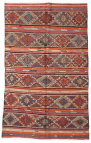 Kilim Semi-Antichi Turchi Tappeto 166X271 Orientale Tessuto A Mano Rosso Scuro/Marrone (Lana, Turchia)