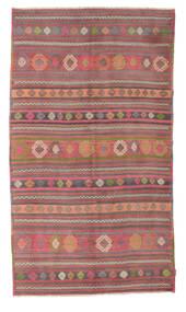 Kilim Semi-Antichi Turchi Tappeto 160X281 Orientale Tessuto A Mano Rosso Scuro/Ruggine/Rosso (Lana, Turchia)
