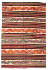 Kilim Semi-Antichi Turchi Tappeto 185X276 Orientale Tessuto A Mano Rosso Scuro/Marrone Chiaro (Lana, Turchia)