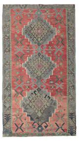 Kilim Semi-Antichi Turchi Tappeto 180X320 Orientale Tessuto A Mano Grigio Scuro/Ruggine/Rosso (Lana, Turchia)