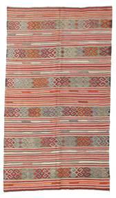 Kilim Semi-Antichi Turchi Tappeto 166X286 Orientale Tessuto A Mano Grigio Chiaro/Ruggine/Rosso (Lana, Turchia)