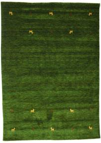 Gabbeh Loom Two Lines - Verde Tappeto 160X230 Moderno Verde Scuro (Lana, India)