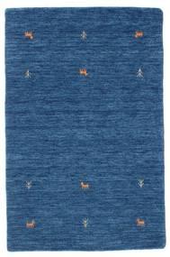 Gabbeh Loom Two Lines - Blu Tappeto 100X160 Moderno Blu Scuro/Blu (Lana, India)