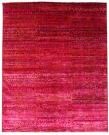 Sari Puri Di Seta Tappeto 244X300 Moderno Fatto A Mano Rosso/Rosa (Seta, India)