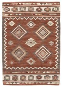 Kilim Malatya Tappeto 120X180 Moderno Tessuto A Mano Rosso Scuro/Marrone Chiaro (Lana, India)