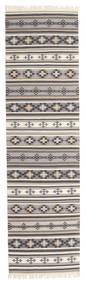 Kilim Cizre Tappeto 80X300 Moderno Tessuto A Mano Alfombra Pasillo Grigio Chiaro/Beige (Lana, India)