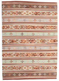 Kilim Anatolian Tappeto 160X230 Moderno Tessuto A Mano Rosso Scuro/Grigio Chiaro (Lana, India)