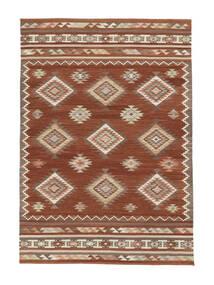 Kilim Malatya Tappeto 160X230 Moderno Tessuto A Mano Rosso/Marrone Chiaro (Lana, India)