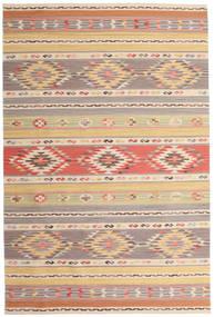 Kilim Nimrud Tappeto 190X290 Moderno Tessuto A Mano Grigio Chiaro/Beige Scuro (Lana, India)