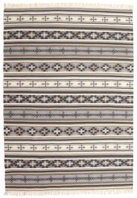 Kilim Cizre Tappeto 160X230 Moderno Tessuto A Mano Grigio Chiaro/Beige (Lana, India)