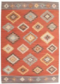 Kilim Denizli Tappeto 160X230 Moderno Tessuto A Mano Arancione/Rosso (Lana, India)