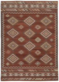 Kilim Malatya Tappeto 240X340 Moderno Tessuto A Mano Rosso Scuro/Rosso (Lana, India)