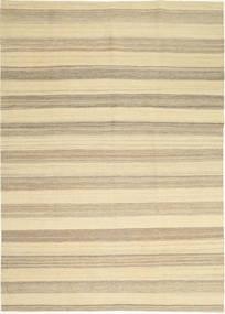 Kilim Moderni Tappeto 174X246 Moderno Tessuto A Mano Beige/Grigio Chiaro (Lana, Persia/Iran)