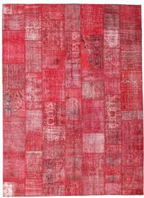 Patchwork Tappeto 254X349 Moderno Fatto A Mano Rosso/Ruggine/Rosso/Rosa Grandi (Lana, Turchia)