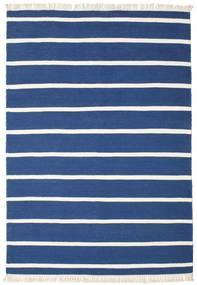 Dorri Stripe - Blu Scuro Tappeto 160X230 Moderno Tessuto A Mano Blu Scuro/Blu (Lana, India)
