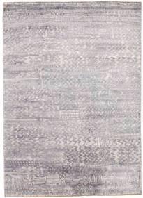 Damask Tappeto 175X246 Moderno Fatto A Mano Grigio Chiaro/Beige ( India)