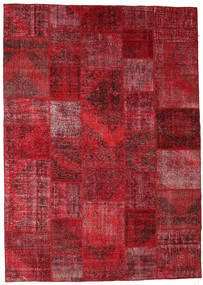 Patchwork Tappeto 248X350 Moderno Fatto A Mano Rosso Scuro/Rosso (Lana, Turchia)