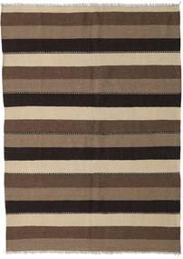 Kilim Tappeto 154X212 Orientale Tessuto A Mano Marrone/Nero (Lana, Persia/Iran)