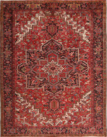 Heriz Tappeto 293X380 Orientale Fatto A Mano Rosso Scuro/Marrone Scuro Grandi (Lana, Persia/Iran)