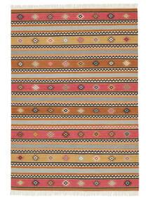 Kilim - Nezzim - Nezzim Tappeto 170X240 Moderno Tessuto A Mano Marrone Chiaro/Grigio Chiaro ( India)