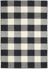 Check Kilim - Nero/Bianco Tappeto 120X180 Moderno Tessuto A Mano Grigio Scuro/Beige (Lana, India)