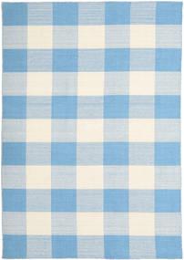 Check Kilim Tappeto 160X230 Moderno Tessuto A Mano Azzurro/Beige (Lana, India)