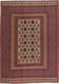 Kilim Golbarjasta Tappeto 189X260 Orientale Tessuto A Mano Rosso Scuro/Marrone Scuro (Lana, Afghanistan)