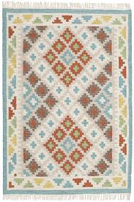 Summer Kilim Tappeto 120X180 Moderno Tessuto A Mano Grigio Chiaro/Beige Scuro (Lana, India)