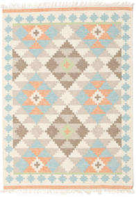 Summer Kilim Tappeto 160X230 Moderno Tessuto A Mano Beige/Beige Scuro (Lana, India)