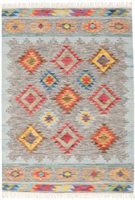 Spring Kilim Tappeto 160X230 Moderno Tessuto A Mano Grigio Chiaro/Beige (Lana, India)