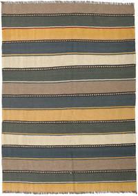 Kilim Tappeto 154X215 Orientale Tessuto A Mano Blu Scuro/Grigio Chiaro (Lana, Persia/Iran)