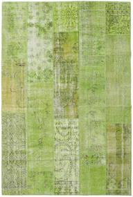 Patchwork Tappeto 201X302 Moderno Fatto A Mano Verde Chiaro/Verde Oliva (Lana, Turchia)