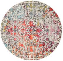 Kaleidoscope - Multi Tappeto Ø 200 Moderno Rotondo Grigio Chiaro/Marrone Scuro ( Turchia)