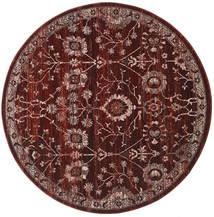 Zanjan - Dark_Wine Tappeto Ø 200 Moderno Rotondo Rosso Scuro/Marrone Scuro ( Turchia)