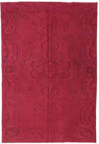 Colored Vintage Tappeto 193X273 Moderno Fatto A Mano Rosso Scuro/Rosa (Lana, Turchia)