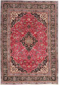 Mashad Patina Tappeto 195X278 Orientale Fatto A Mano Rosso Scuro/Ruggine/Rosso (Lana, Persia/Iran)