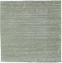Handloom Fringes - Soft Teal Tappeto 250X250 Moderno Quadrato Verde Chiaro Grandi (Lana, India)