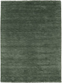 Handloom Fringes - Verde Bosco Tappeto 160X230 Moderno Verde Scuro/Verde Scuro (Lana, India)