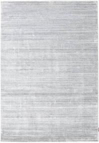 Bambù Di Seta Loom - Grigio Tappeto 160X230 Moderno Bianco/Creme/Grigio Chiaro ( India)