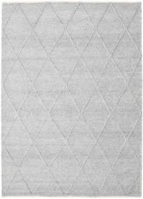 Svea - Grigio Argentato Tappeto 160X230 Moderno Tessuto A Mano Grigio Chiaro/Bianco/Creme (Lana, India)