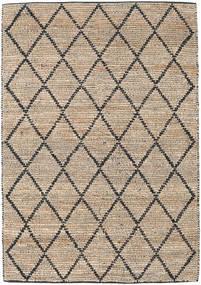 Tappeto Esterno Serena Jute - Natural/Nero Tappeto 160X230 Moderno Tessuto A Mano Grigio Chiaro/Marrone Chiaro (Tappeto In Iuta India)