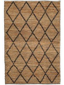 Tappeto Esterno Serena Jute - Natural/Nero Tappeto 120X180 Moderno Tessuto A Mano Grigio Chiaro/Giallo (Tappeto In Iuta India)