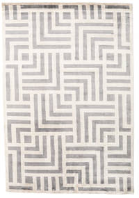Maze Tappeto 170X240 Moderno Fatto A Mano Grigio Chiaro/Beige ( India)