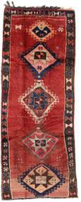 Herki Vintage Tappeto 153X390 Orientale Fatto A Mano Alfombra Pasillo Rosso Scuro/Marrone Scuro/Ruggine/Rosso (Lana, Turchia)