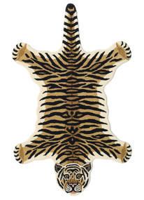 Tiger - Beige Tappeto 100X160 Moderno Blu Scuro/Marrone Chiaro (Lana, India)