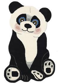 Panda Baby Tappeto 100X160 Moderno Grigio Scuro/Beige (Lana, India)