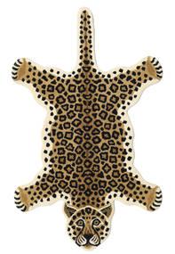 Leopard - Beige Tappeto 100X160 Moderno Nero/Marrone Chiaro/Beige (Lana, India)